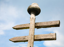 Unusual signpost Stock Image
