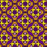 Violet and orange abstract  geometric pattern, background. Unusual and simple abstract  geometric pattern, vector seamless from abstract forms in violet and Stock Photos
