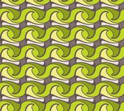 Unusual and simple abstract geometric pattern, vector seamless from abstract forms. In green, lemon and beige tones Stock Photo