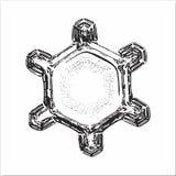 Unusual snowflake on white background Stock Image