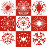 Unusual Snowflakes Stock Photo