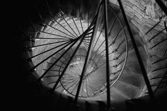Unusual spiral staircase in St. Isaac's Cathedral Stock Photos
