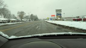 April snow in Lafayette Indiana stock photography