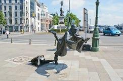 The unusual statue Stock Photo