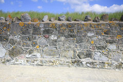 Unusual stone wall Stock Photos