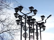 Unusual streetlights in Krasnodar Stock Photo