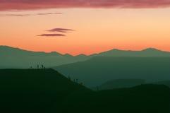 Unusual Sunset scene Stock Images