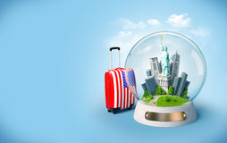 Unusual travel illustration Royalty Free Stock Photography