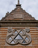 Unusual Triangular Lodge House royalty free stock photos