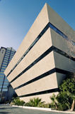 Unusual triangular office building Royalty Free Stock Images