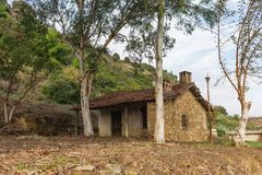 Unusual Turkey country concept by eyes of traveler. Old abandoned house. Horizontal color photography stock image