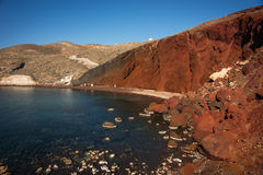 Unusual and unique Red beach on Santorini, Greece Stock Photography