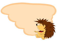 Unusual vector cartoon hedgehog Stock Image