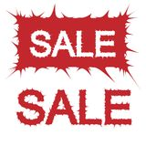 Unusual vector sale label Royalty Free Stock Images