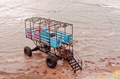 Close up of a Sea Tractor Royalty Free Stock Images