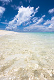 Unusual view of beach in the Indian Ocean Stock Images