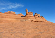 Unusual view of the Delicate Arch Stock Photo