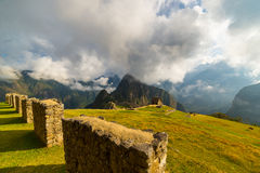 Unusual view of Machu Picchu from above by morning light Stock Image