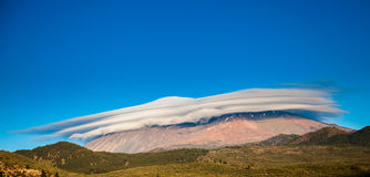 Unusual view of the mount Teide. Covered with the cap of clouds, Tenerife, Spain Stock Photography