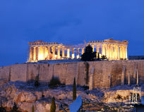 Free Unusual View Of Parthenon By Night Stock Photography - 17151102