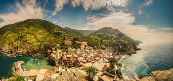 Free Unusual View Of Sea Village On Rocky Cliff Stock Photos - 119988063