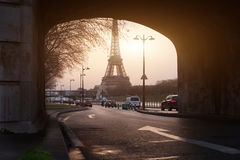 Unusual view of Paris Royalty Free Stock Photo