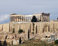 Unusual view of Parthenon Stock Image