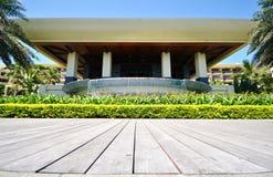 Unusual view of the terrace sheraton shenzhou peninsula resort Stock Image
