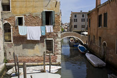 Unusual view of Venice city Royalty Free Stock Photo