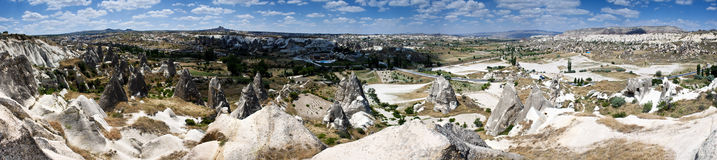 Unusual volcanic landscape in Cappadocia Stock Photos