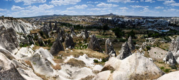Unusual volcanic landscape in Cappadocia Stock Photography