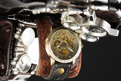 Unusual watches. several alternatives dials Royalty Free Stock Image