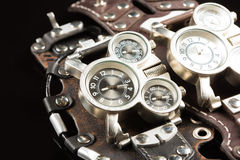 Unusual watches. several alternatives dials Royalty Free Stock Photography