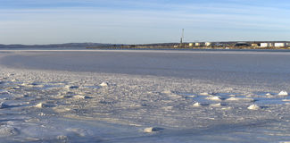 Searsport Ice Covered Bay Royalty Free Stock Images