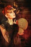 Unusual witch halloween Stock Photo