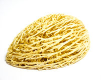 Unusual yellow walnut on white background Royalty Free Stock Images