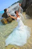 Unveiled bride of the seas Stock Photo