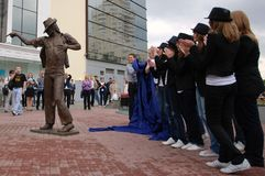 Unveiling of monument to Michael Jackson. Stock Images