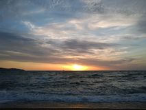 Unvergesslicher Sonnenaufgang Lizenzfreies Stockfoto