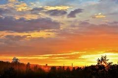 Unvergesslicher Sonnenuntergang stockfotografie