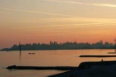 Unvergesslicher Sonnenuntergang Stockfoto