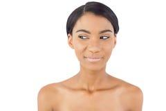Unverschämte natürliche Frauenaufstellung Stockfotos