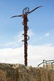 Unverschämte Serpentinenquerstatue in der Montierung Nebo, Jord Lizenzfreies Stockfoto