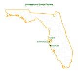 unversity της νότιας Φλώριδας 3 διάνυσμα χαρτών πανεπιστημιουπόλεων fil διανυσματική απεικόνιση