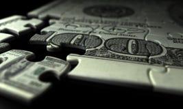 Unvollständige Dollar-Nahaufnahme Stockbild