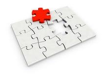 Unvollständiges Puzzlespiel Lizenzfreie Stockbilder