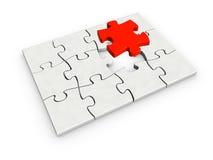 Unvollständiges Puzzlespiel Stockfoto