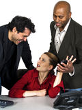 Unwanted advances in the office with white backgro Stock Image