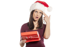 Unwanted christmas gift Royalty Free Stock Photos