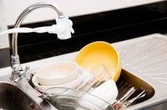 unwash тарелки Стоковые Фотографии RF